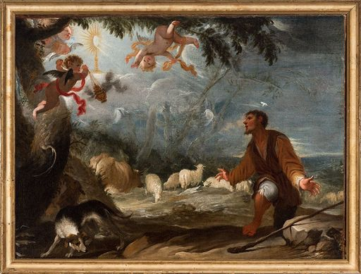 Juan Antonio DE FRIAS Y ESCALANTE - Painting - The vision of Saint Paschal Baylon