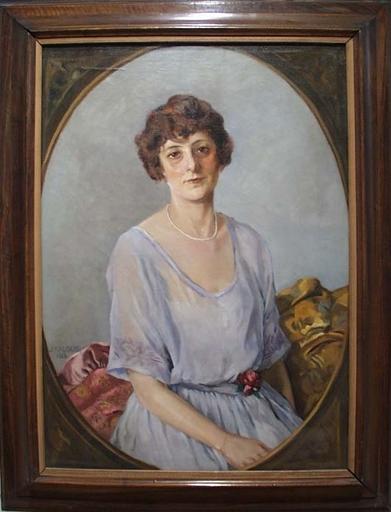 "Josef KALOUS - Peinture - ""Portrait of a Woman"" by Josef Kalous"