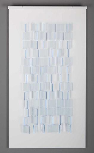 Julio LE PARC - Scultura Volume - Mobile Translucide Bleu