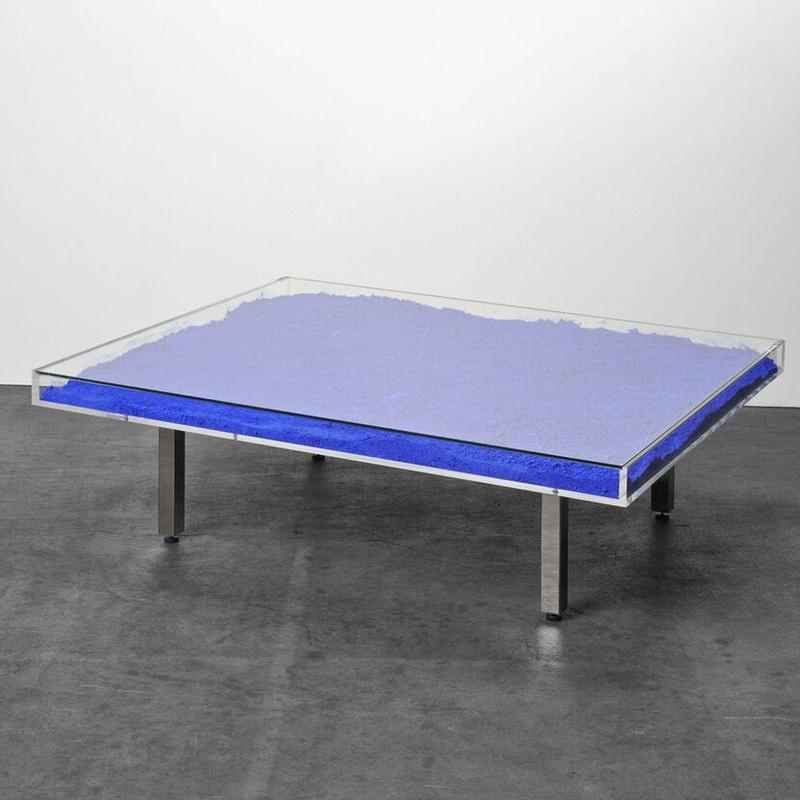 伊夫·克莱因 - 雕塑 - Table Bleu Klein IKB