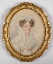 """Karl VON SAAR - Miniatur - """"Viennese Lady"""", 1826, Miniature"""
