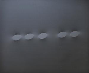 Turi SIMETI - Painting - Cinque ovali neri