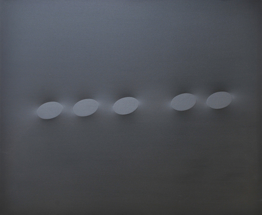 Turi SIMETI - Painting - Cinque ovali neri.