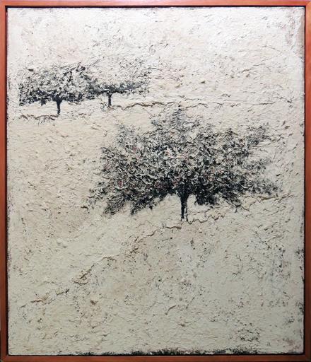 Carlo MATTIOLI - Peinture - Paesaggio bianco