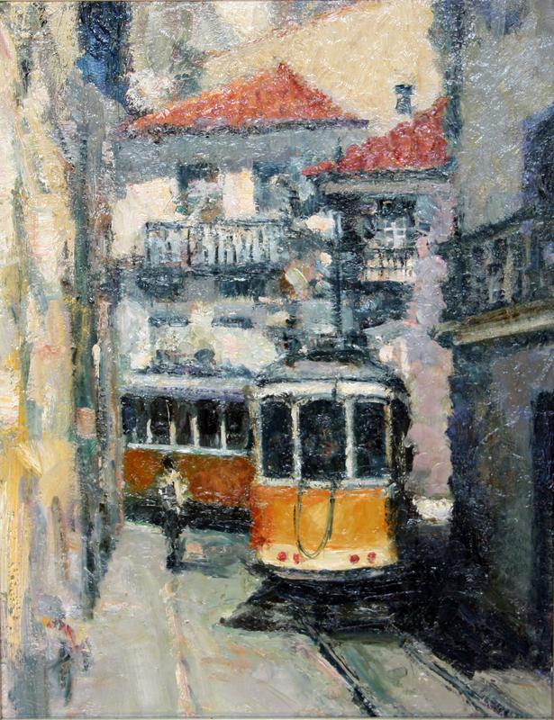 Levan URUSHADZE - Pintura - Escolas Gerais street. Lisbon