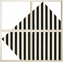 Daniel BUREN (1938) - The Rotating Square - In and Out of the Frame (4 Panels)