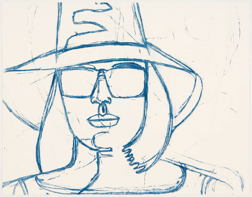 Alex KATZ - Grabado - White Hat and Sunglasses