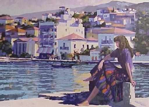 Howard BEHRENS - Print-Multiple - Grecian Harbor