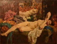 Alessio ISSUPOFF - Painting - Nude