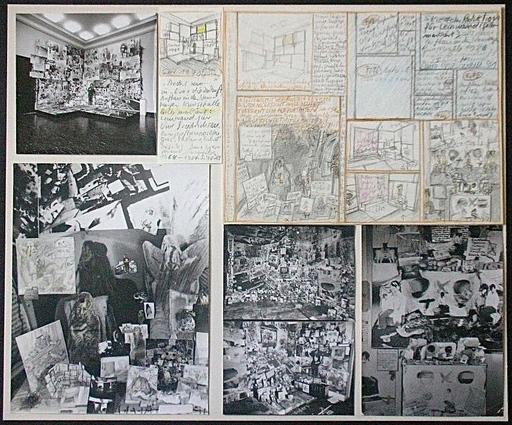 """Anna OPPERMANN - Drawing-Watercolor -  Anders sein (""""Irgendwie ist sie so anders…"""") 1970-86"""