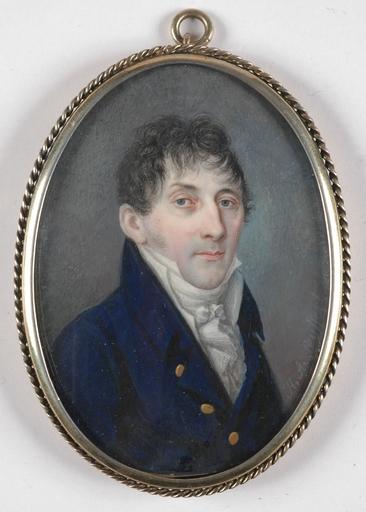 "Heinrich Abel SEYFFERT - Miniatura - ""Portrait of a Gentleman"", Miniature on Ivory"