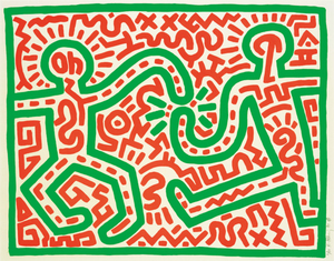 Keith HARING, Untitled 1983, Woodcut
