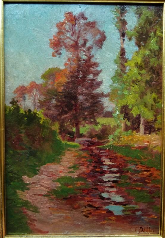 Edouard PAIL - Pittura - ruisseau, effets mauves