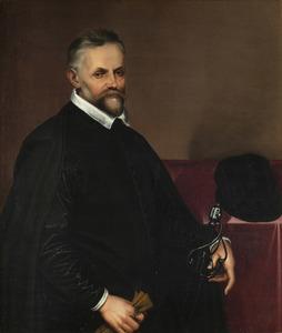 Bartolomeo PASSAROTTI - Painting - Autoritratto in abiti da cavaliere