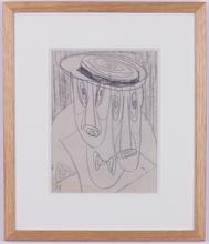 Jacques GERMAIN - Drawing-Watercolor - deux hommes