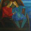 Zaza TUSCHMALISCHVILI (1960) - Liebespaar im Boot