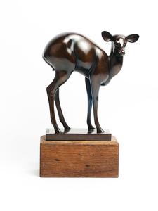 Armand PETERSEN - Escultura - Antilope Dos Rond appelée ou Biche craintive