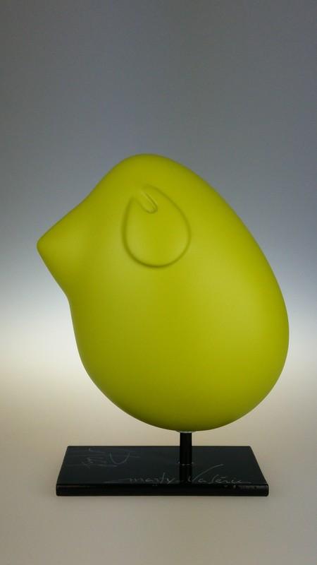 Valérie MARTY - Sculpture-Volume - Piaf vert olive