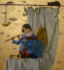 Tatjana PALCUKA - Painting - Fluitist and Violinist    (Cat N° 6088)