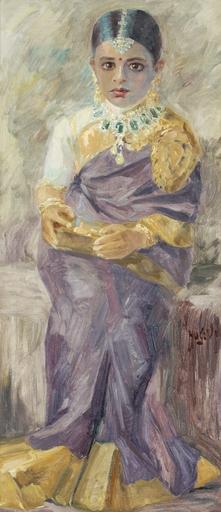 Hugo Vilfred PEDERSEN - Peinture - Prinzessin von Mysore