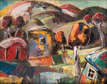 Minas AVETISIAN - Painting - The Village