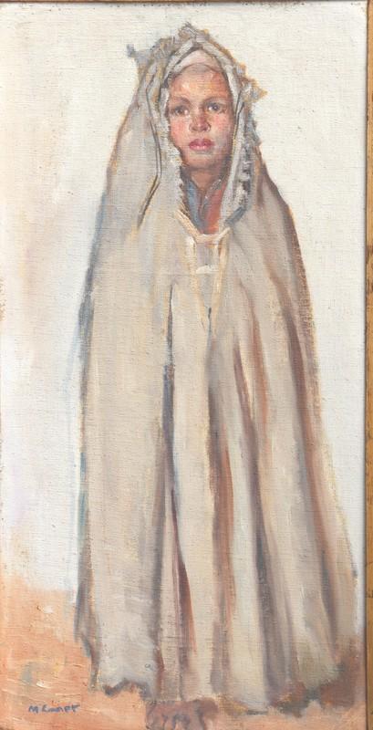 """Marcel CANET - Pintura - """"JEUNE KABYLE AU BURNOUS"""""""