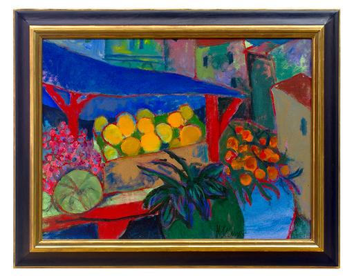 Heinrich STEINER - Painting - Der Obststand