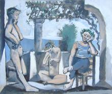 巴勃罗•毕加索 - 版画 - Bacchanal | Bacchanale