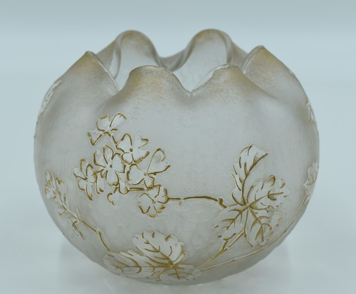 François-Théodore LEGRAS - Montjoye – Vase boule forme Chinoise