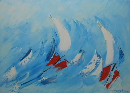 Serge Louis TUQUET - Painting - Bleu tempête