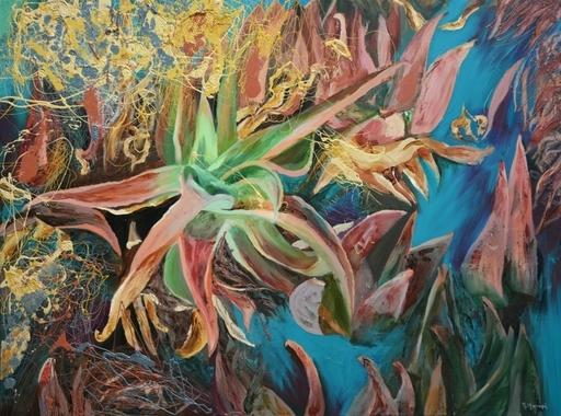 Peny MANAVI - Gemälde - Cactus 2