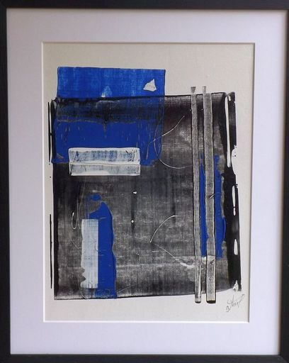 Benoit THIEL - Drawing-Watercolor - les Mots bleus