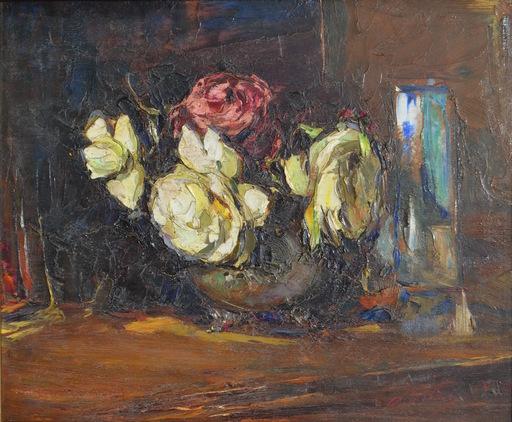 Leonid Osipovic PASTERNAK - Pintura - Still-life with roses