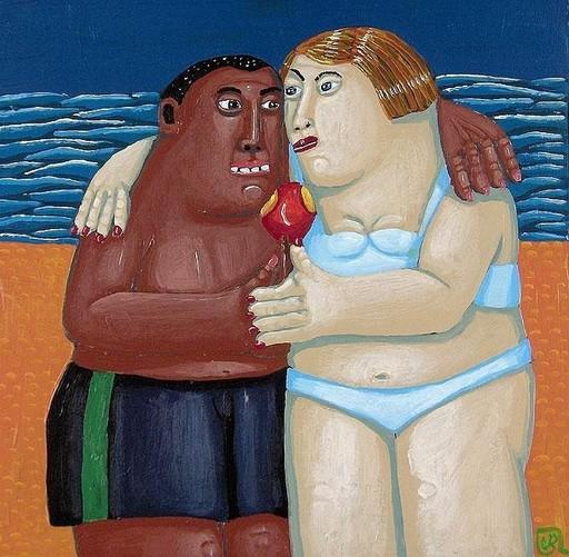 Valérie BLANCHARD - Pintura - L'amour à la plage