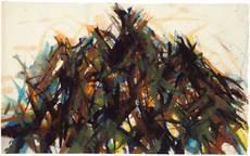 Max UHLIG - Drawing-Watercolor - Baumkronen, Lindau