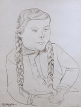 Peter August BÖCKSTIEGEL - Dibujo Acuarela - Bauernkind