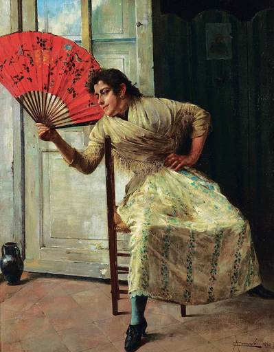 Antonio CORRADO ORILIA - Pintura - Untitled - The Red Fan