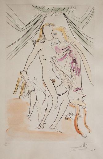 Salvador DALI - Stampa-Multiplo - Venus, Mars und Cupido