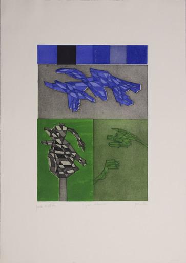 Achille PERILLI - 版画 - Il gran calmucco