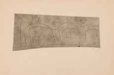 Ben NICHOLSON - Print-Multiple - Long Horizontal Patmos