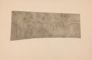 Ben NICHOLSON - Stampa Multiplo - Long Horizontal Patmos