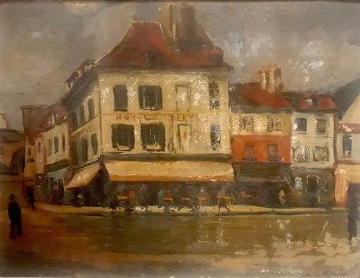 Lucien GENIN - Pintura - Hôtel du Tertre