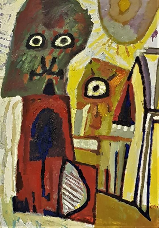 LUCEBERT - Painting - GRÜNE WEIHNACHTEN - 1988
