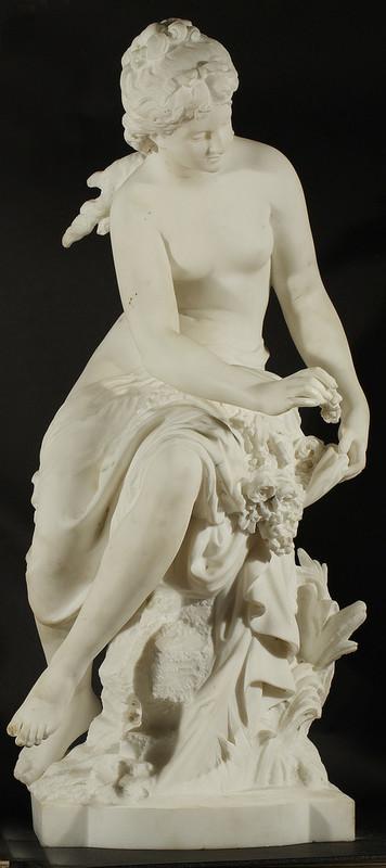 Mathurin MOREAU - Sculpture-Volume - Woman Making a Garland