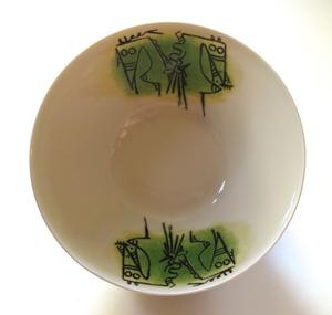 "Wifredo LAM - Ceramic - Porcelana di Albisola - 9"" bowl"
