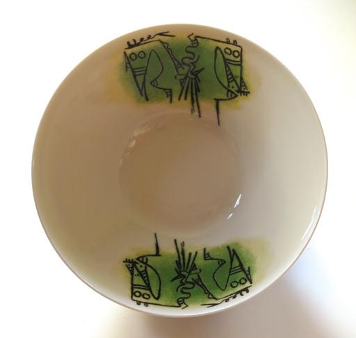 "Wifredo LAM - Céramique - Porcelana di Albisola - 9"" bowl"