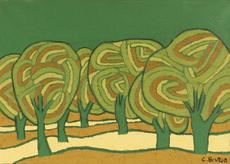 Carol BRUTON - Painting - Olive Grove
