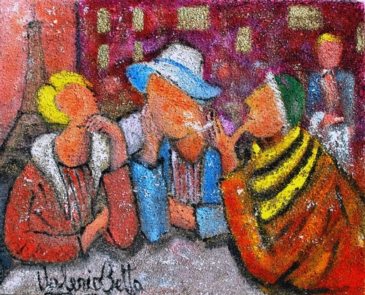 Valerio BETTA - Peinture - Week end a Parigi- Week end in Paris