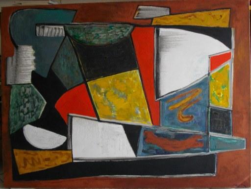 Joseph LEVIN - Peinture - Composition abstraite
