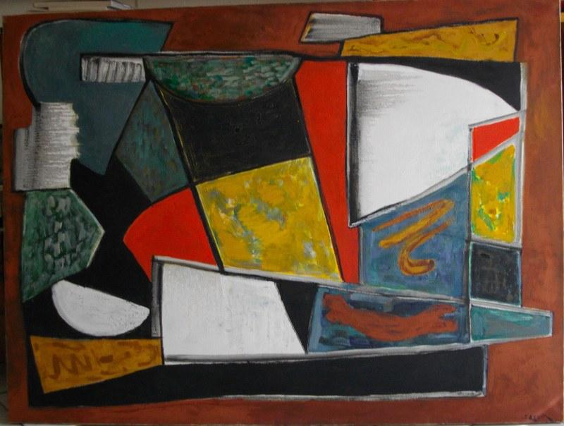 Joseph LEVIN - Pintura - Composition abstraite